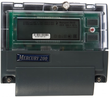 Фото счетчика электроэнергии Инкотекс Меркурий 200.02