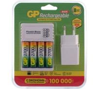 Перезаряжаемые аккумуляторы GP 270AAHC AA 4шт и зарядное устройство с USB кабелем 270AAHC/CPBA-2CR4