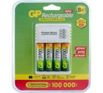 Перезаряжаемые аккумуляторы GP 270AAHC AA 4шт и зарядное устройство с USB кабелем 270AAHC/CPB-2CR4