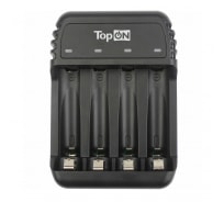 Зарядное устройство для 1-4 аккумуляторов TopON типа AA AAA Ni-MH и Ni-Cd, MicroUSB 5V TOP-CH500