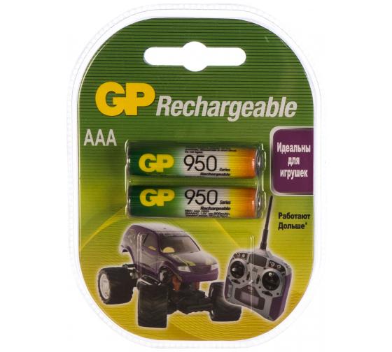 Аккумуляторная батарейка NiMH, 950мАч, 2шт GP 95AAAHC-2DECRC2/95AAAHC-2CR2/95AAAHC-BL2 2