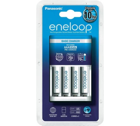 Зарядное устройство eneloop K-KJ51MCC04E Basic Charger для 2/4 AA, AAA + 4*AAA 750mAh Panasonic 5410853056690 1