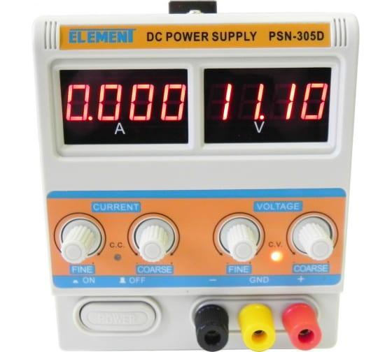 Лабораторный блок питания ELEMENT 305D 15305 (30V, 5A) 1