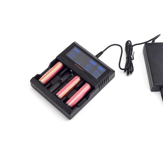 Зарядное устройство ЯРКИЙ ЛУЧ FOLOMOV A4 для 1-4 аккум. Ni-MH/Ni-Cd, Li-Ion, LiFePO4, STN-экран 4606400622208 6
