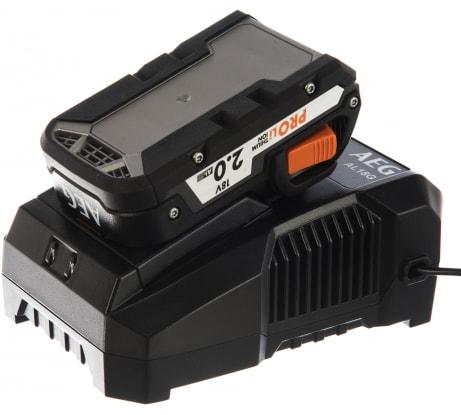 Фото набора AEG SETL1820AL 18 В; 2.0 А*ч; Li-Ion аккумулятор + зарядное устройство 4935478072
