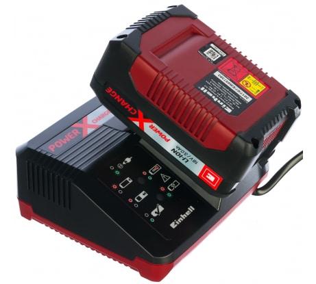 Фото стартового комплекта пзу Einhell POWER X-CHANGE 18 В - 3,0 Ач Li зарядка + аккумулятор