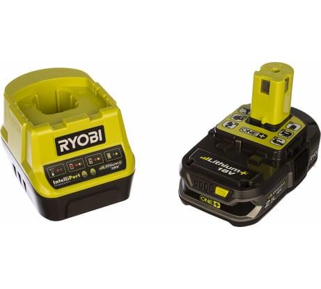 Фото аккумулятора Ryobi ONE+ RC18120-125 18 В; 2.5 А*ч; Li-Ion + зарядное устройство RC18120 5133003359