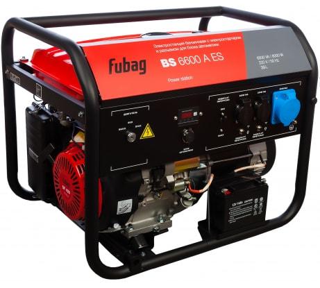 Фото бензиновой электростанции с возможностью подключения блока автоматики FUBAG BS 6600 A ES