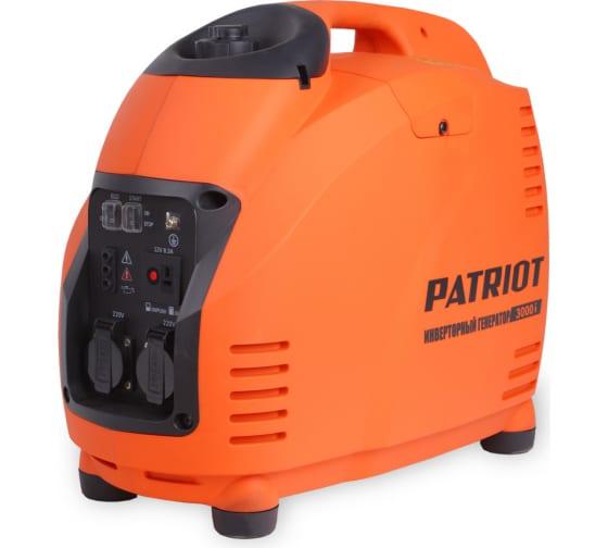 Инверторный генератор PATRIOT 3000i 474101045 - цена, отзывы, характеристики, 1 видео, фото - купить в Москве и РФ