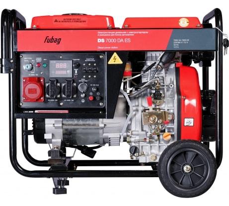 Фото дизельной электростанции FUBAG DS 7000 DA ES с электростартером и коннектором автоматики