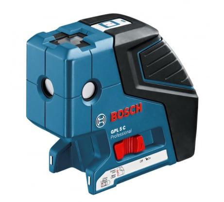 Фото точечного нивелира Bosch GPL 5 0601066302 универсальный держатель