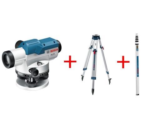 Фото оптического нивелира Bosch GOL 26D 601068002 штатив BT160, рейка GR500