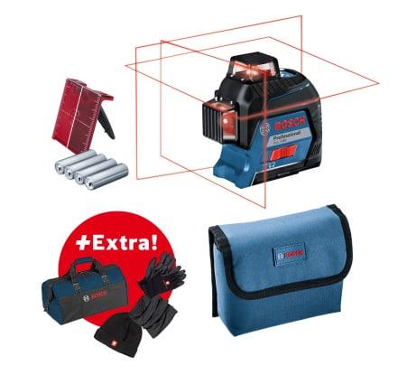 Фото лазерного нивелира Bosch GLL 3-80 + Зимний набор + Сумка 06159940M0