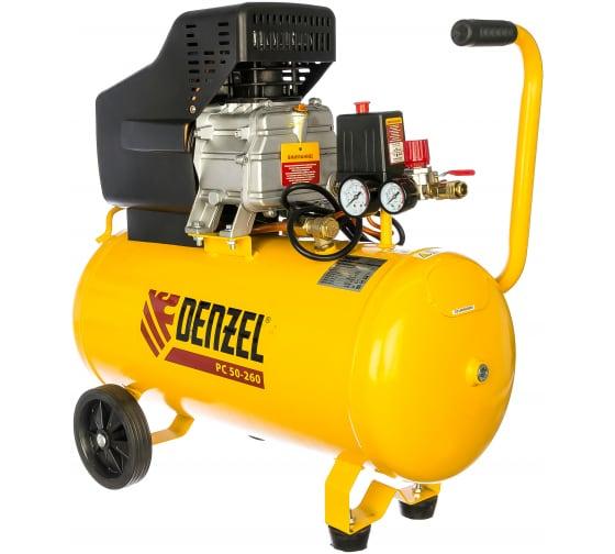 Воздушный компрессор DENZEL PC 50-260, 1,8 кВт, 260л/мин, 50л, 10 бар 58073 1
