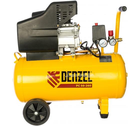 Воздушный компрессор DENZEL PC 50-260, 1,8 кВт, 260л/мин, 50л, 10 бар 58073 2