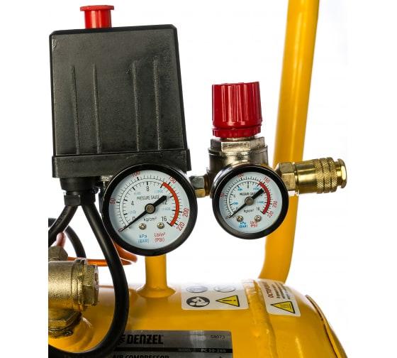 Воздушный компрессор DENZEL PC 50-260, 1,8 кВт, 260л/мин, 50л, 10 бар 58073 4