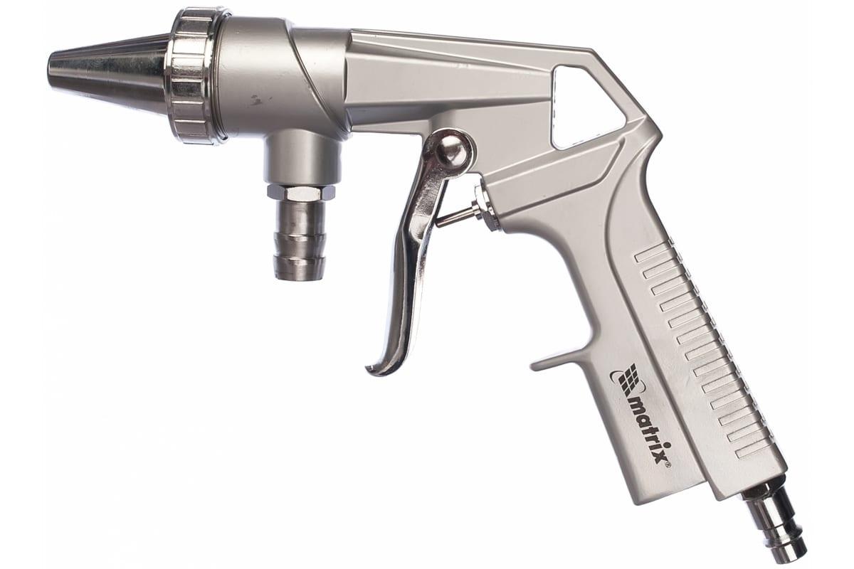 Фото пескоструйного пистолета MATRIX со шлангом, пневматический 57328