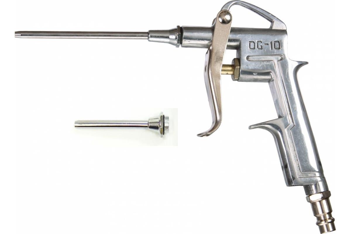 Фото металлического продувочного пистолета Pegas Длина носика: 50 мм, 80мм с набором аксессуаров. 5108