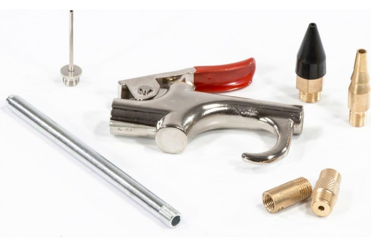 Фото пневматического продувочного пистолета MATRIX в комплекте с насадками, 6 шт. 57336