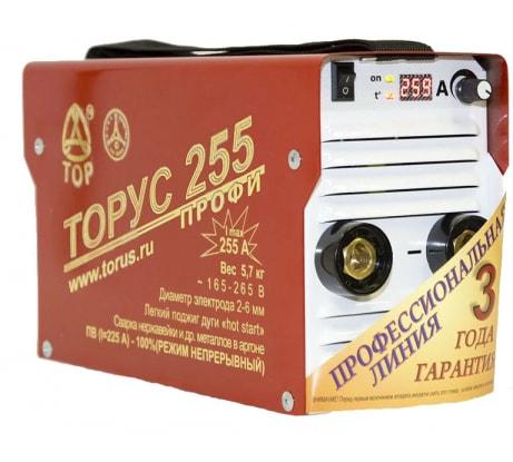 Фото сварочного инвертора Торус 255 с комплектом проводов