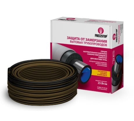 Греющий кабель саморегулирующийся для обогрева труб Теплолюкс Freezstop-25-15 - цена, отзывы, характеристики, фото - купить в Москве и РФ