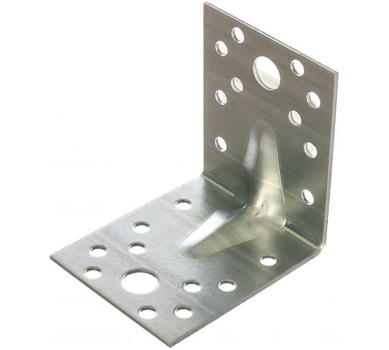 Крепежный усиленный уголок Tech-Krep оцинкованный 70х70х55х2,0 мм - накл. 124411 в Великом Новгороде купить по низкой цене: отзывы, характеристики, фото, инструкция