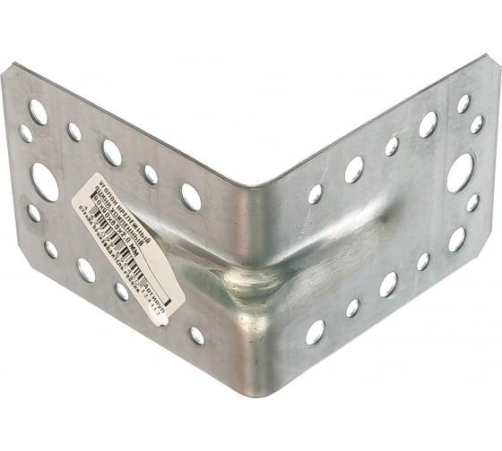 Крепежный усиленный уголок Tech-Krep оцинкованный 90х90х65х2,0 мм - накл. 124412 в Великом Новгороде купить по низкой цене: отзывы, характеристики, фото, инструкция