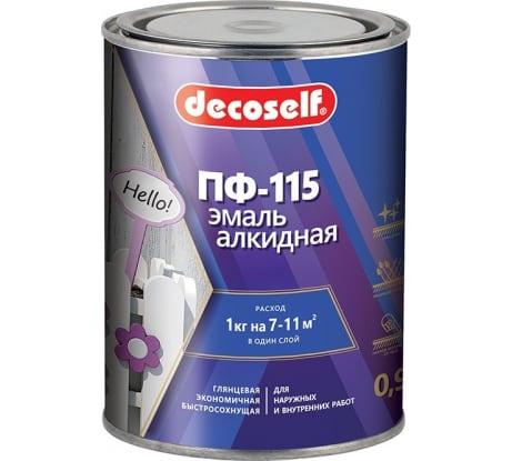 Фото эмали ПУФАС ПФ-115 Decoself белая 0,9кг тов-200161