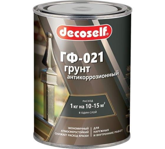 Грунт ПУФАС ГФ-021 серая Decoself 0,9кг тов-200078 в Санкт-Петербурге купить по низкой цене: отзывы, характеристики, фото, инструкция
