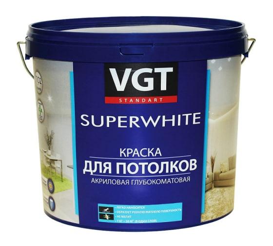 Краска для потолков VGT ВД АК 2180 Супербелая 15кг 11602136 в Нижнем Новгороде - купить, цены, отзывы, характеристики, фото, инструкция