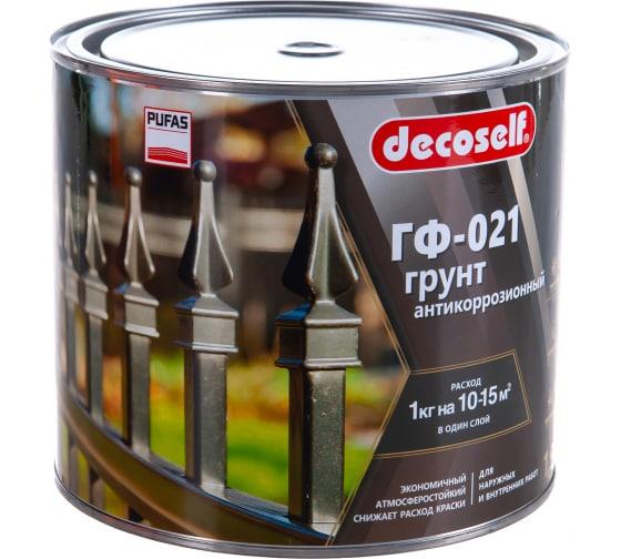 Грунт Пуфас ГФ-021 серая Decoself 1,9кг тов-200079 в Санкт-Петербурге купить по низкой цене: отзывы, характеристики, фото, инструкция