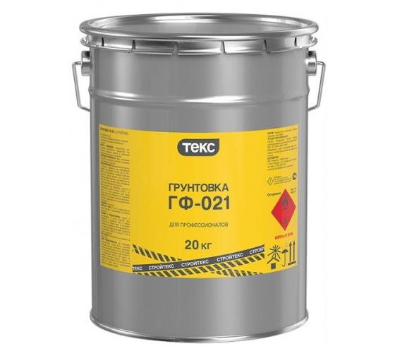 Грунт Текс стройтекс ГФ-021 серый 20 кг 54368 - цена, отзывы, характеристики, фото - купить в Москве и РФ