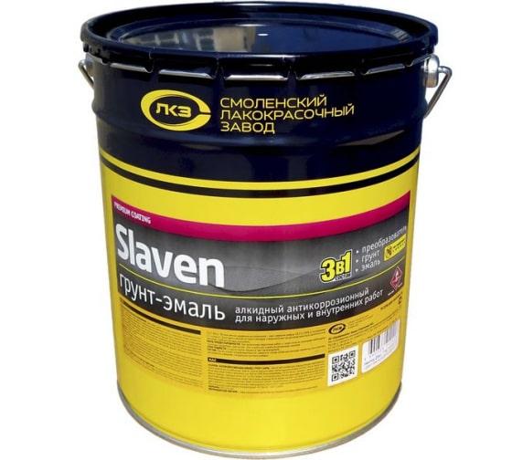 Грунт-эмаль Slaven 3в1 быстросохнущий антикоррозионный СВЕТЛО-СЕРЫЙ 20 кг 99989 в Краснодаре - купить, цены, отзывы, характеристики, фото, инструкция