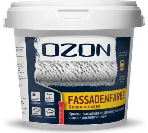 Купить фасаднаю краску ozon fassadenfarbe вд-ака 112а 0.9л/1.4кг вд-ака-112а-1,4 в Смоленске - низкие цены, отзывы, быстрая доставка, гарантия
