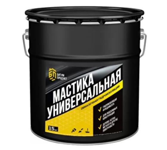 Битумная универсальная мастика БИТУМ ПРОДУКТ 15 кг BP-002 - цена, отзывы, характеристики, 1 видео, фото - купить в Москве и РФ