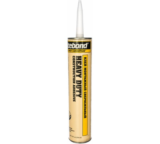 Сверхсильный монтажный клей Titebond Heavy Duty желтый картридж 5261 1