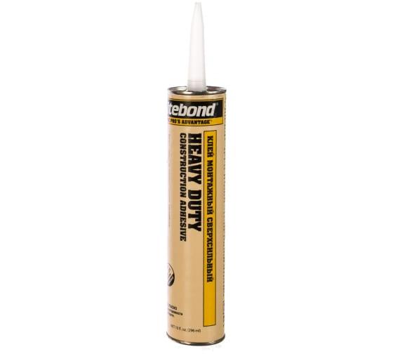 Сверхсильный монтажный клей Titebond Heavy Duty желтый картридж 5261 2