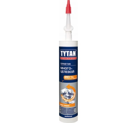 Фото многоцелевого герметика Tytan Professional белый, 310 мл картридж 8475