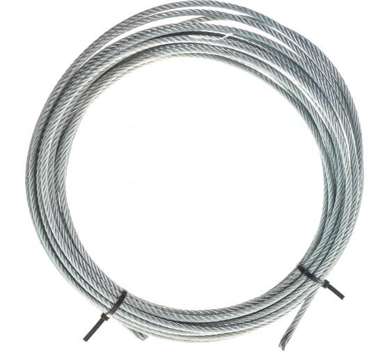 Стальной трос для растяжки DIN 3055 5 мм упак. 10м- накл. Tech-Krep 127850 в Волгограде - купить, цены, отзывы, характеристики, фото, инструкция