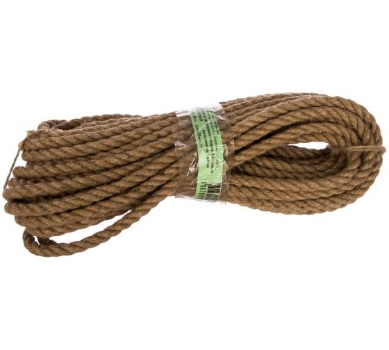 Джутовая веревка 3-х прядная d 10мм 20 м Шпагат 000000065 - цена, отзывы, характеристики, фото - купить в Москве и РФ