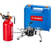 Туристическая мультитопливная горелка Зубр ЭКСПЕРТ бензин или газ, в кейсе 68202