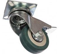 Колесо поворотное с тормозом (50 мм; г/п 35 кг; резина/полипропилен) ЗУБР 30956-50-B