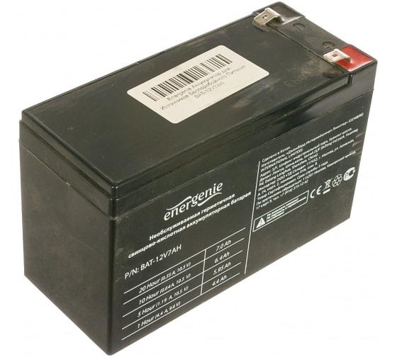 Аккумулятор для источников бесперебойного питания Energenie BAT-12V7AH в Новосибирске купить по низкой цене: отзывы, характеристики, фото, инструкция