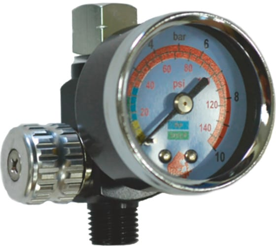 Регулятор давления с манометром для краскопульта Русский Мастер РМ-87326 в Санкт-Петербурге купить по низкой цене: отзывы, характеристики, фото, инструкция