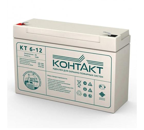 Батарея аккумуляторная (6 В; 12 Ач) КОНТАКТ КТ6-12 в Магнитогорске - цены, отзывы, доставка, гарантия, скидки