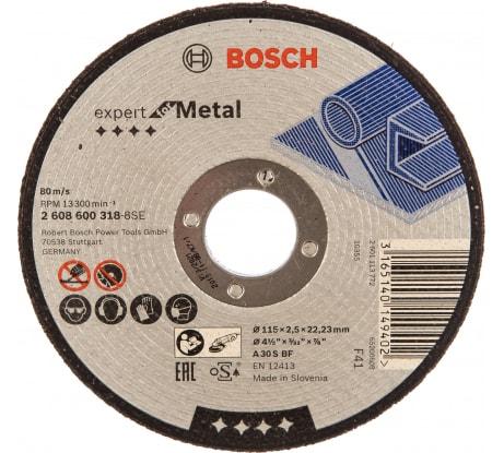 Фото отрезного диска по металлу Bosch 115х22,2 мм 2.608.600.318