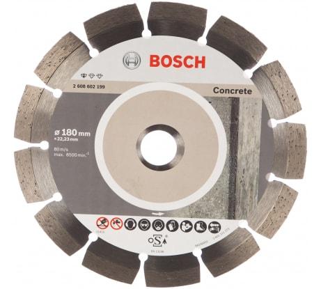 Фото алмазного диска по бетону Bosch 180х22,2 мм 2.608.602.199