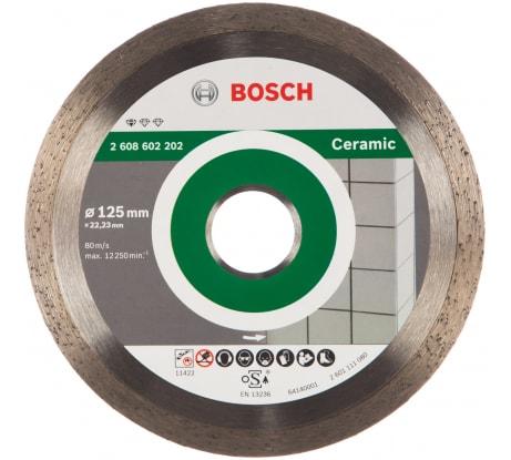 Фото алмазного диска для керамической плитки Bosch FPE ECO 125х22.23 мм 2.608.602.202