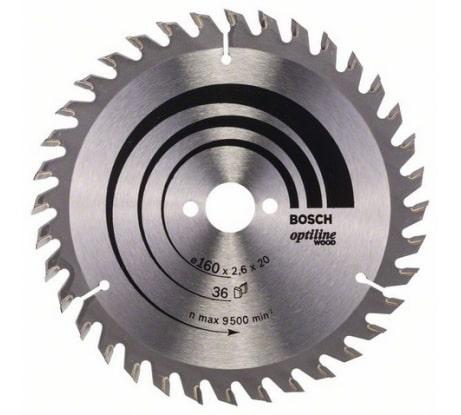 Фото пильного диска по древесине Bosch 160х20 мм 2.608.640.597