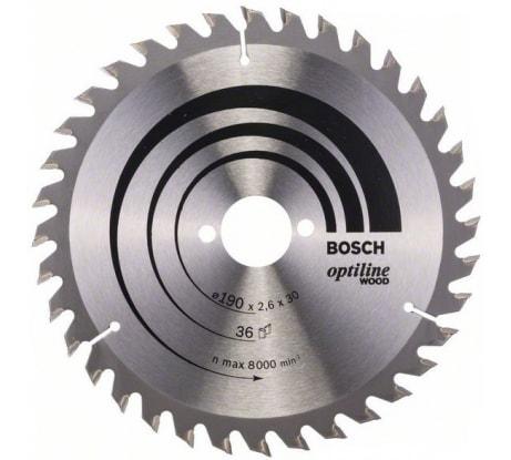 Фото пильного диска по древесине Bosch 190х30 мм 2.608.640.616